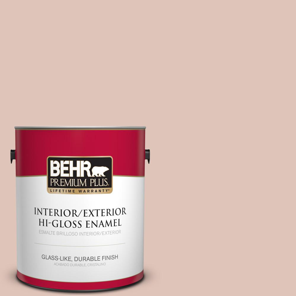 1 gal. #PPU2-07 Coral Stone High-Gloss Enamel Interior/Exterior Paint