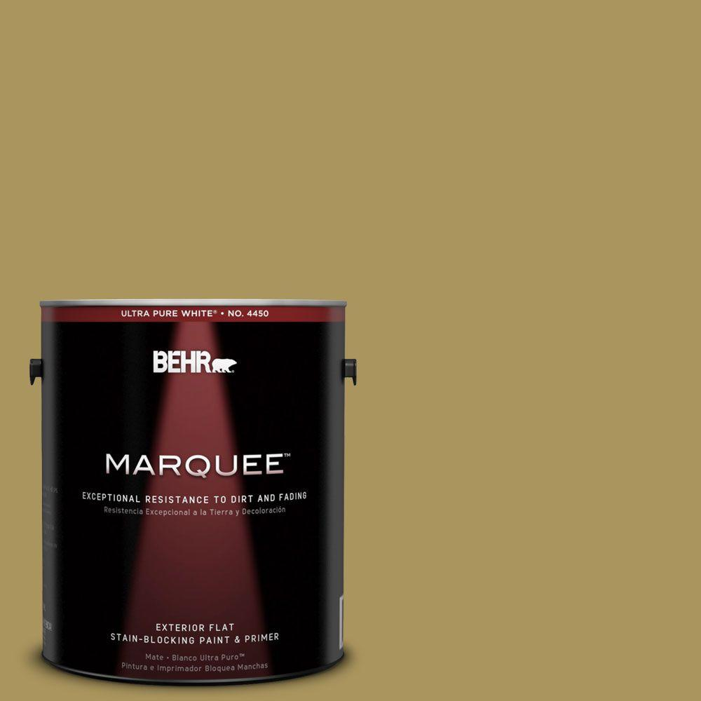 1-gal. #370F-6 Mossy Rock Flat Exterior Paint