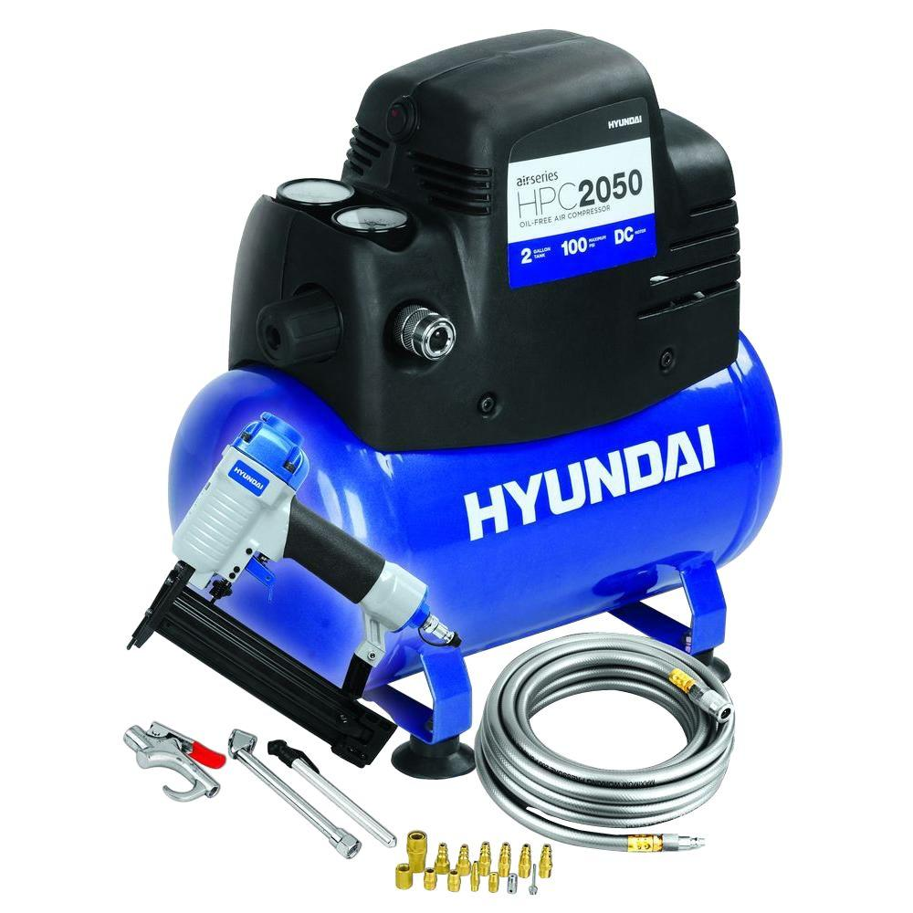Hyundai 2 gal. Air Compressor Kit