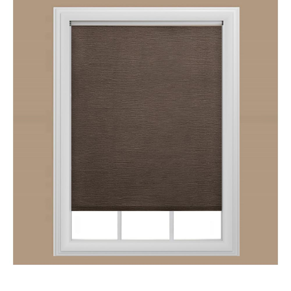 Bali cut to size chocolate brown uv blocking solar for 18 inch window blinds
