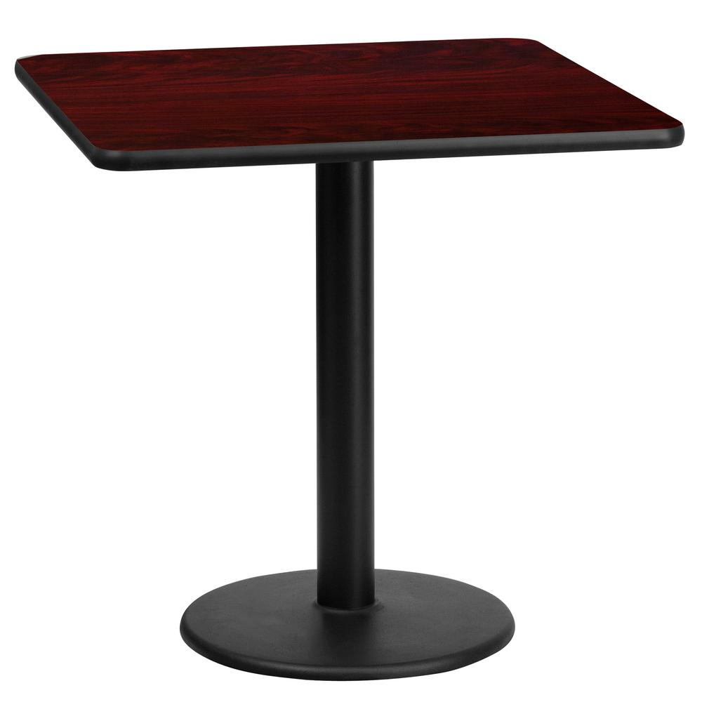 Flash furniture 24 39 39 round mahogany laminate table top for Table 85 restaurant menu