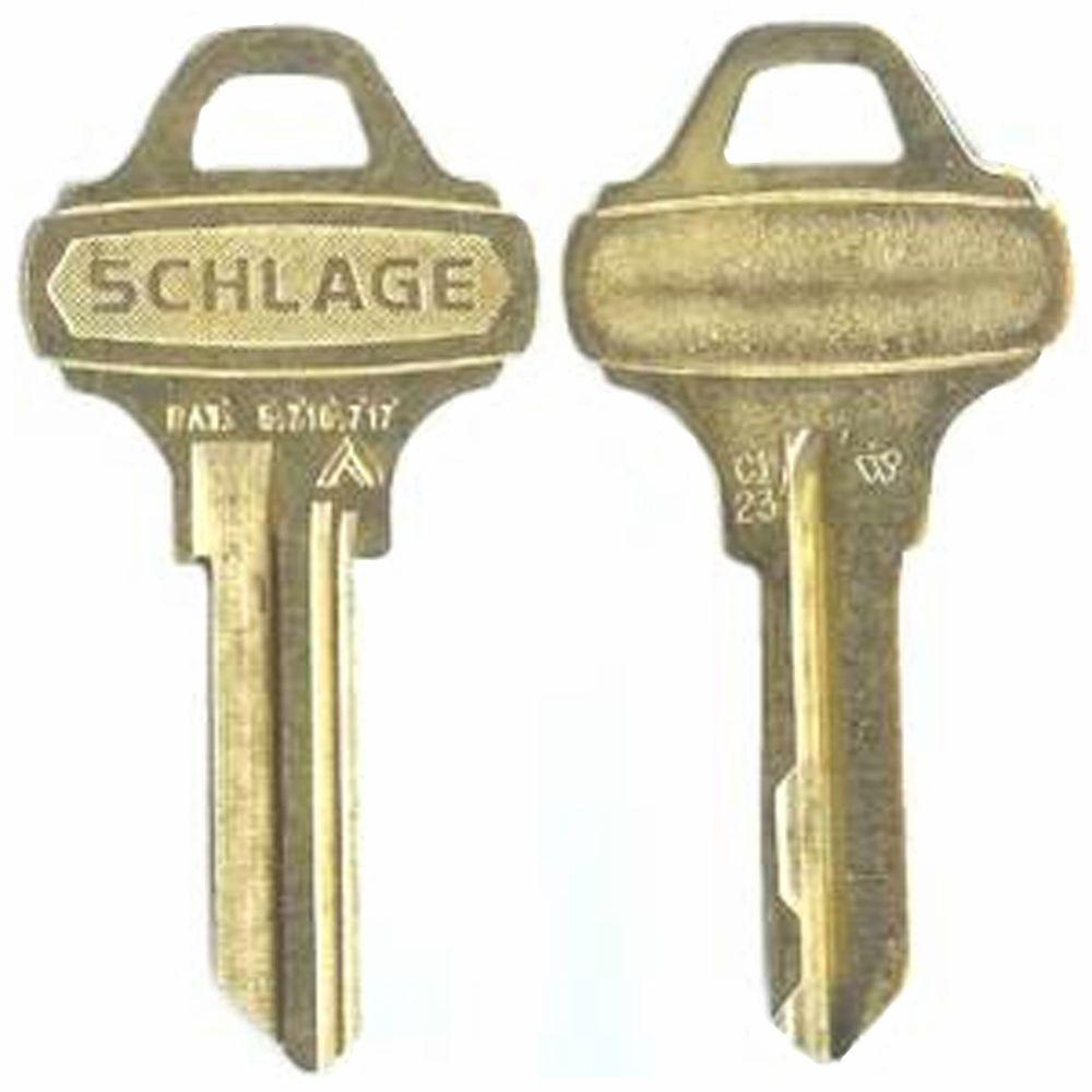 Schlage Nickle Silver House/Office Key-35-009-C123 - The Home Depot