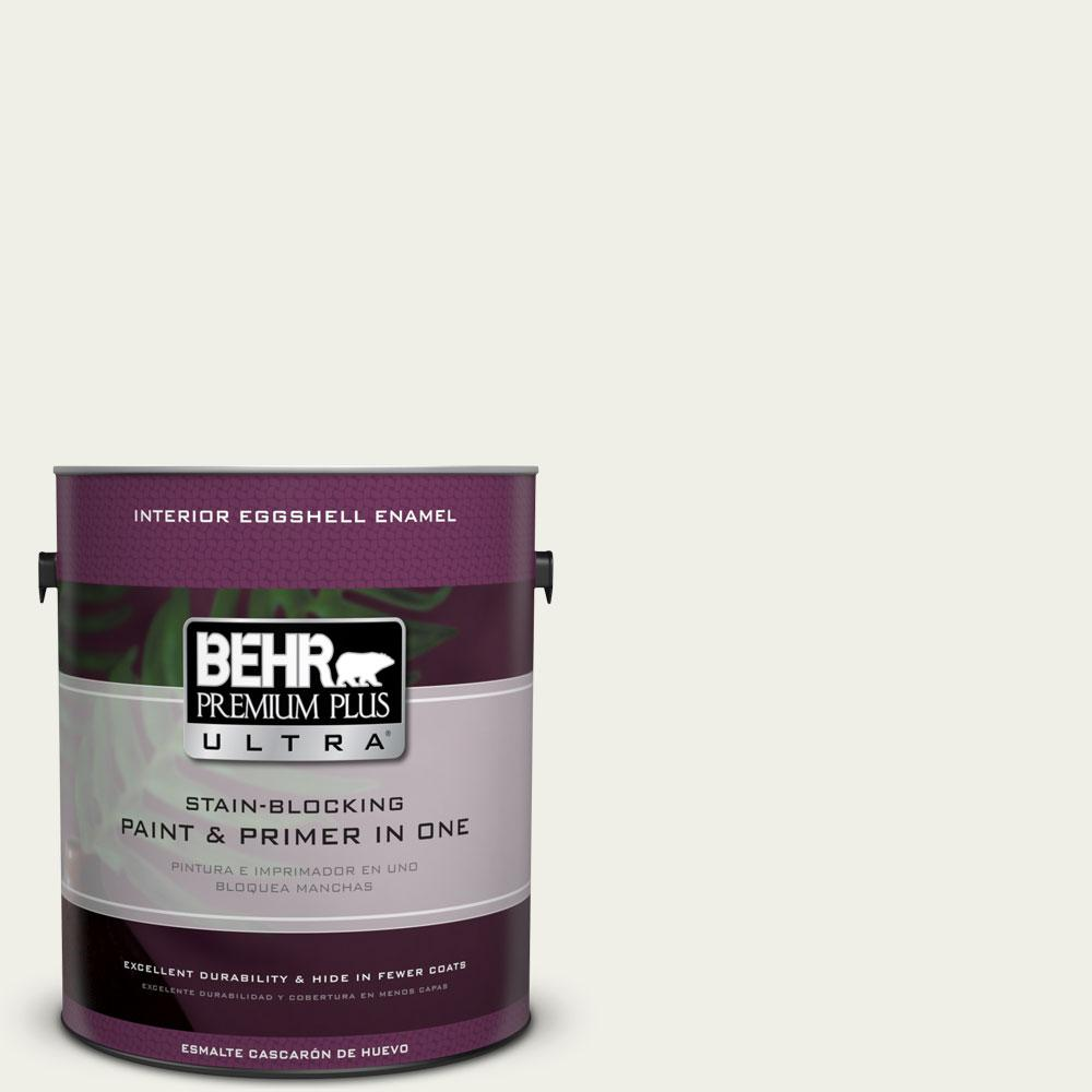 BEHR Premium Plus Ultra 1-gal. #W-F-710 Hushed White Eggshell Enamel Interior Paint
