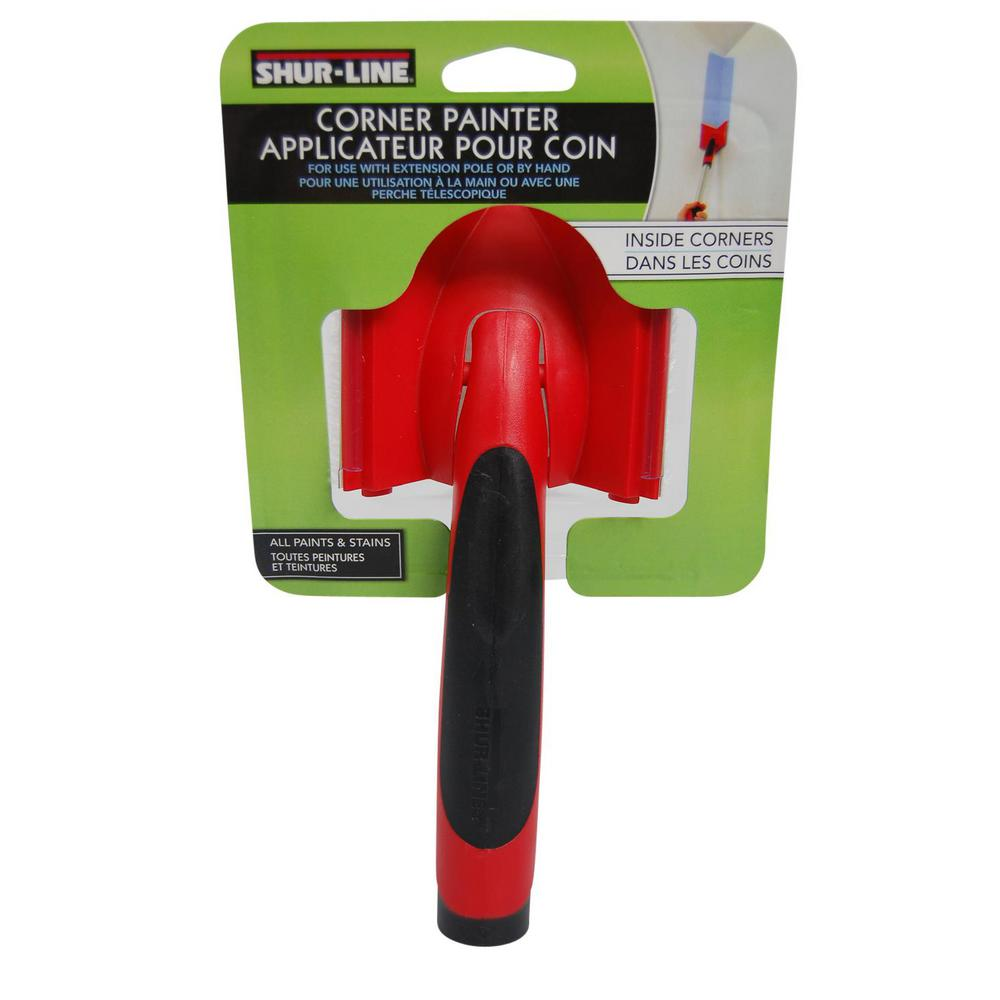 Shur-Line Comfort Grip Corner Painter 8.25 in. use with Paint Edger Pad Refills
