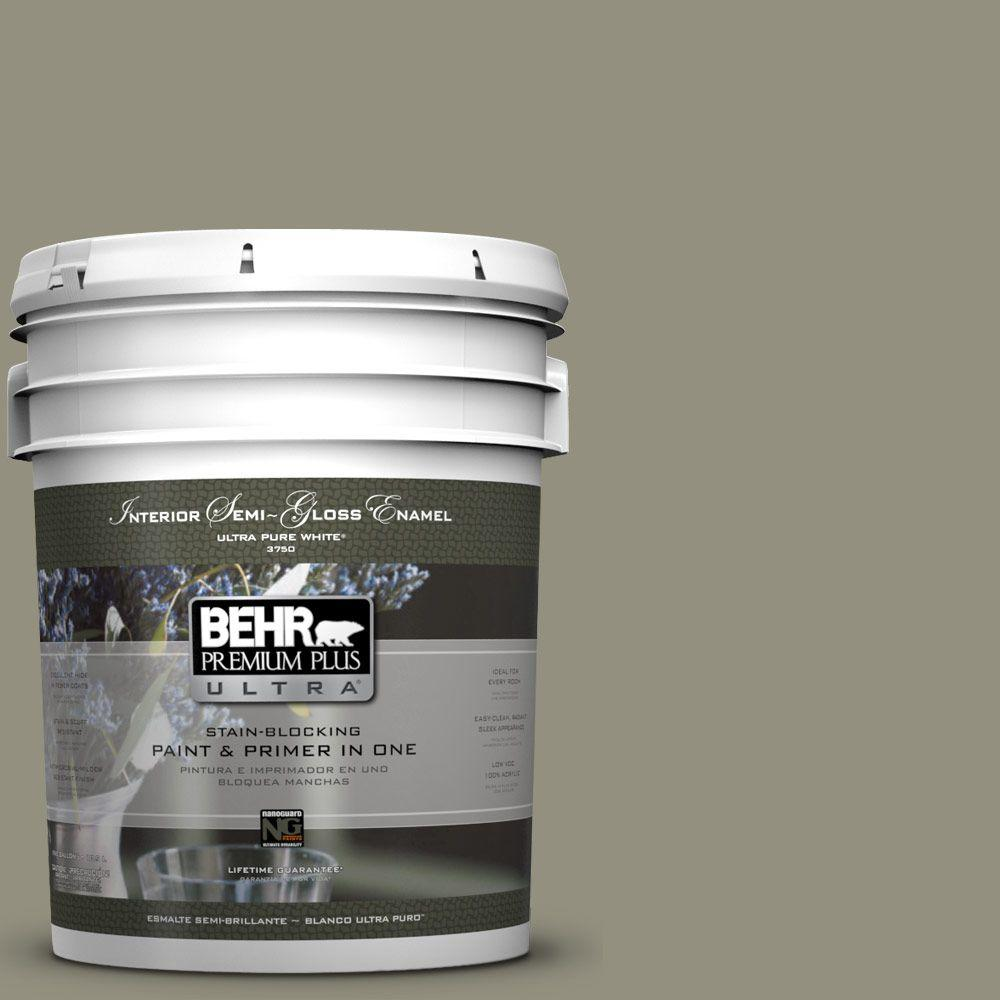 5-gal. #N350-5 Muted Sage Semi-Gloss Enamel Interior Paint