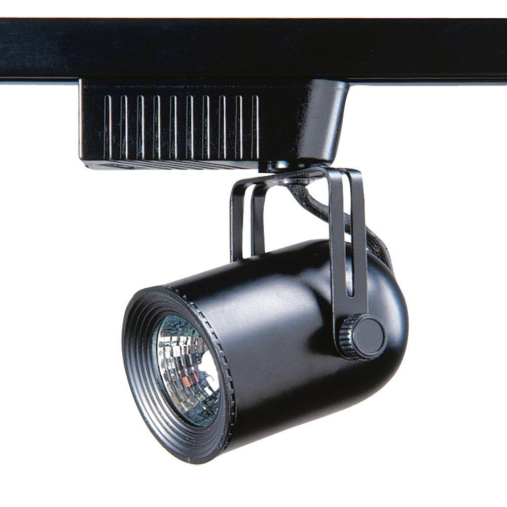 101 Series Low-Voltage MR16 Black Round Back Track Lighting Fixture