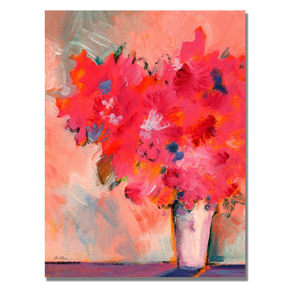 35 in. x 47 in. Contemporary Floral Canvas Art