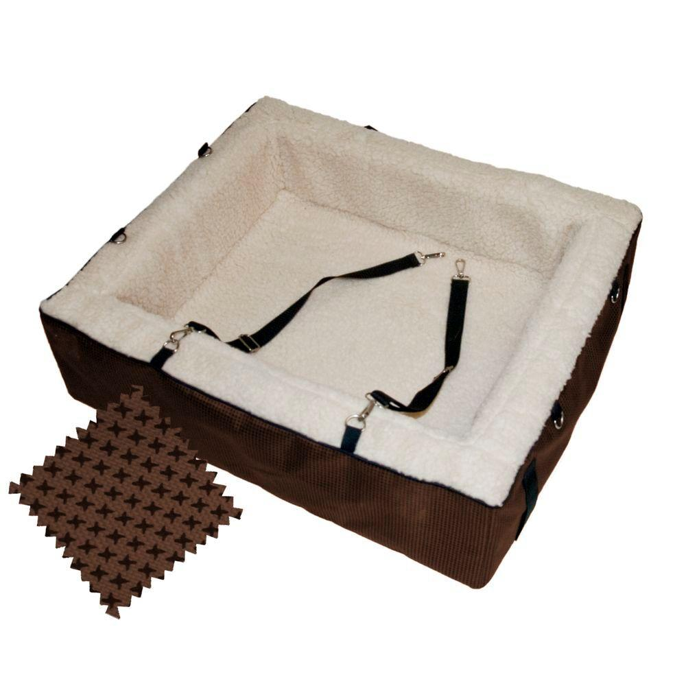 Pet Gear 25 in. L x 22 in. W x 7 in. H Designer Chocolate Extra Large Booster Seat