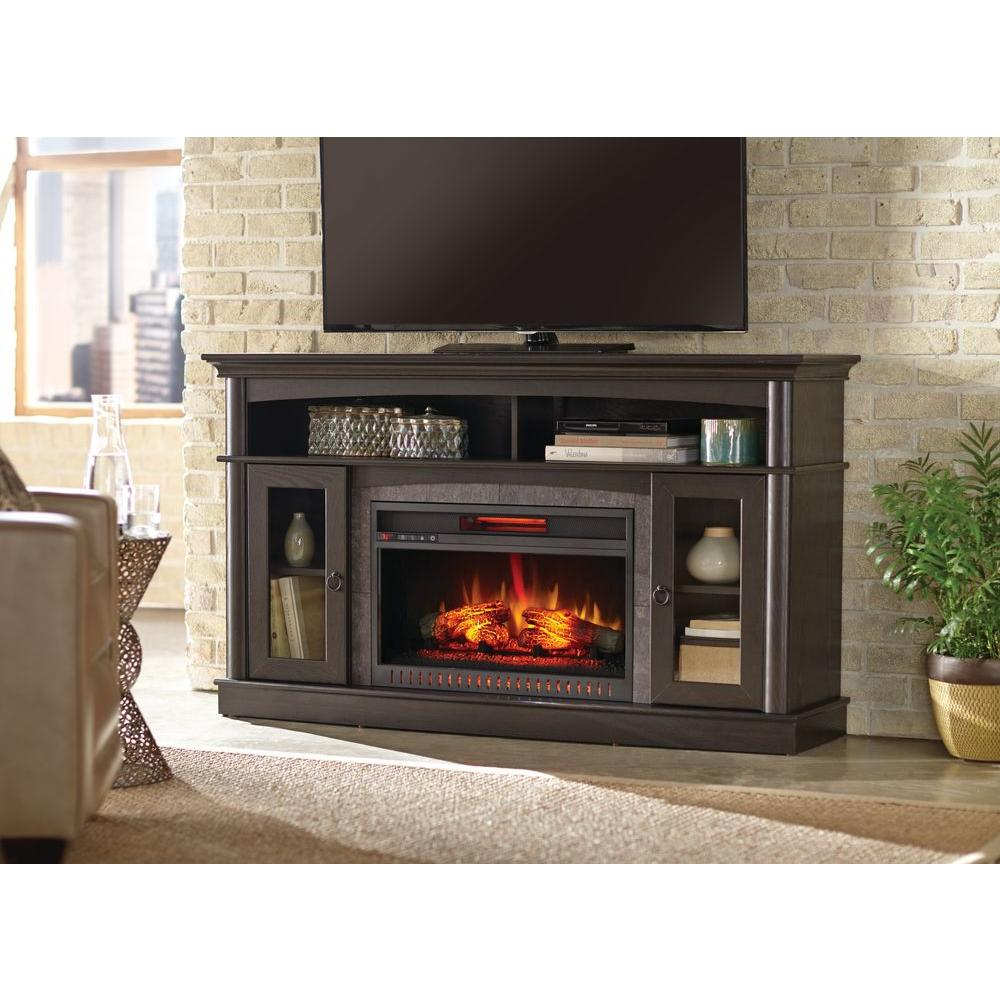 Electric Fireplace Heaters Home Depot: Home Decorators Collection Rinehart 59 In. Media Console