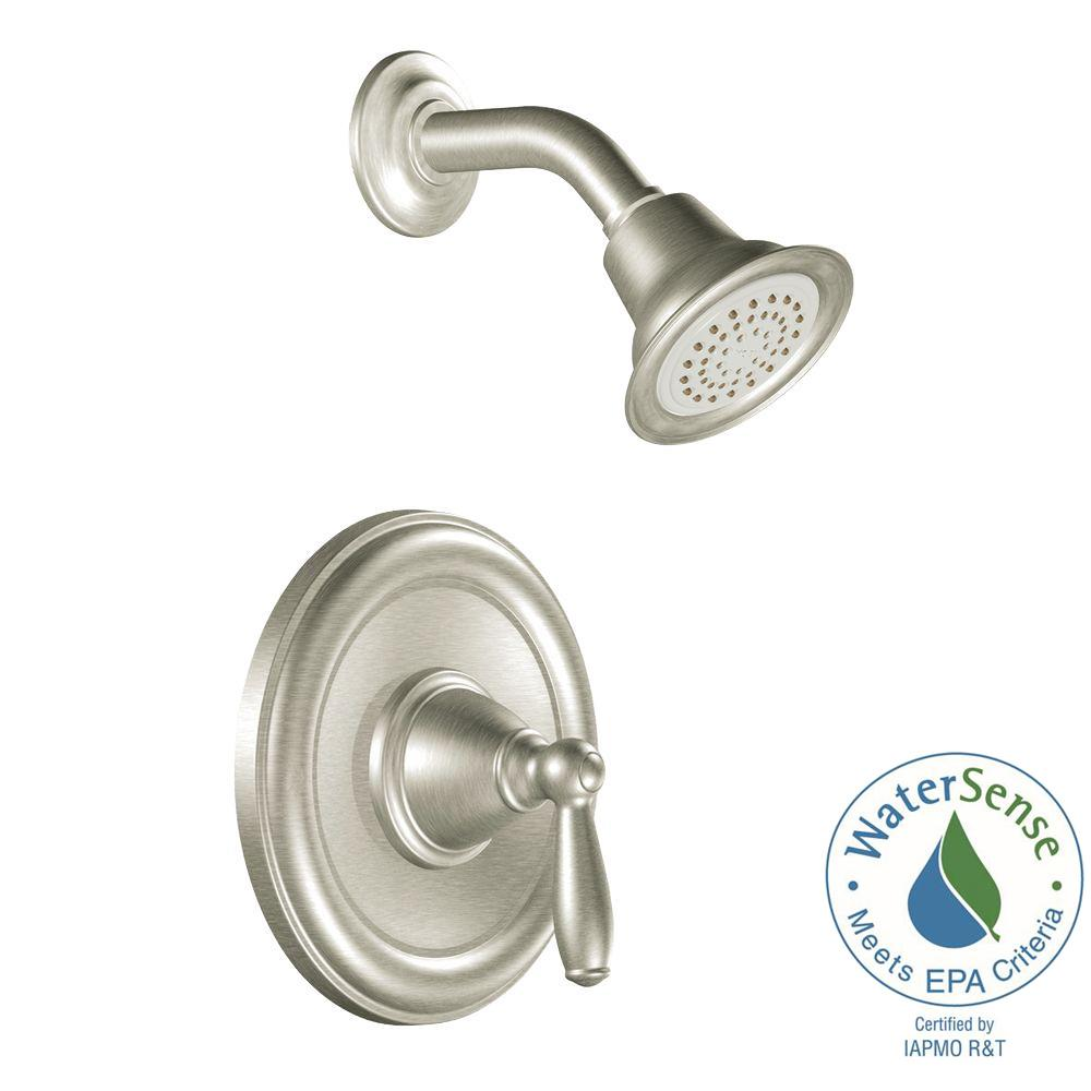MOEN Brantford 1-Handle Posi-Temp Shower Only Trim Kit in Brushed Nickel (Valve Not Included)