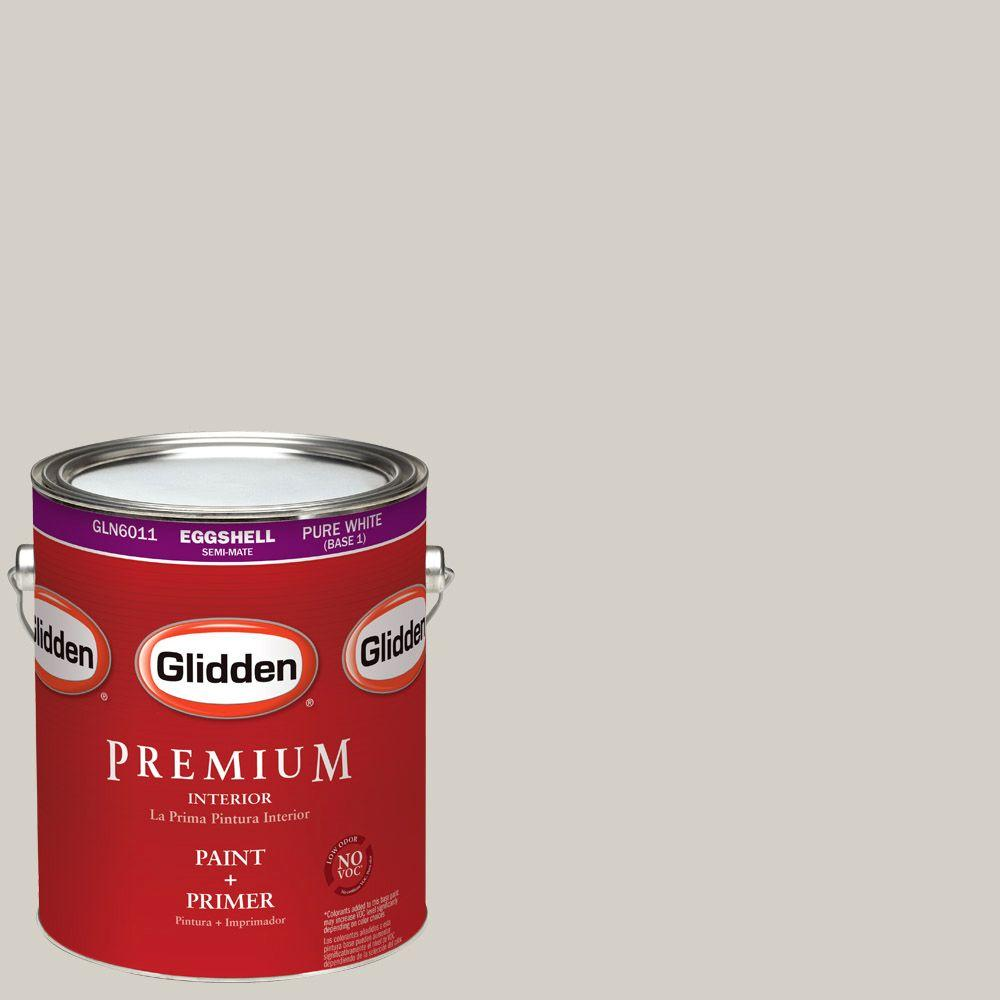1-gal. #HDGWN49 Smooth Stone Eggshell Latex Interior Paint with Primer