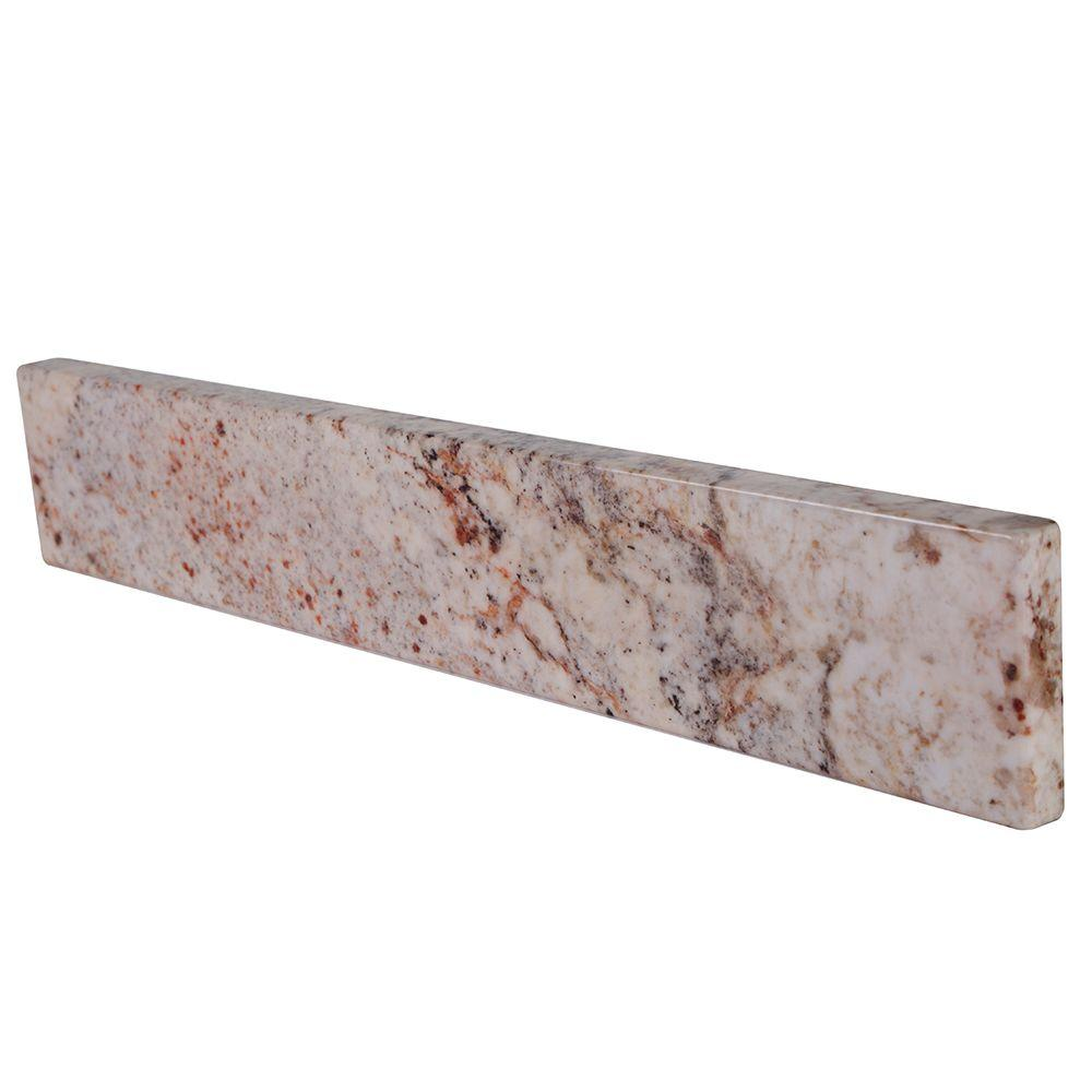 null 17 in. Stone Effects Sidesplash in Rustic Gold