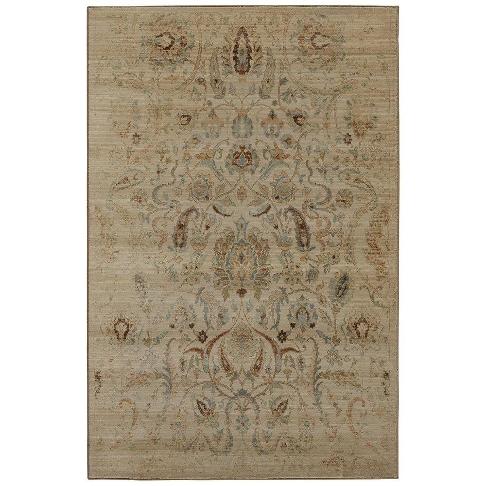 Sentiment Butter Pecan 8 ft. x 11 ft. Area Rug