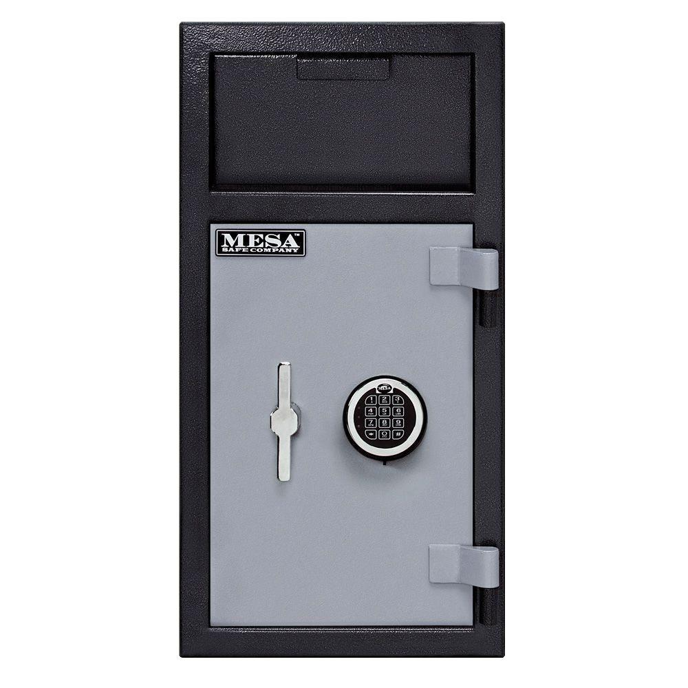 Mesa 1.4 cu. ft. Electronic Lock Depository Safe, Silver