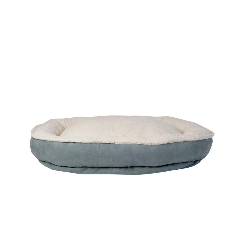 Cloud Sherpa & Faux Suede Comfy Cup Small Spa Blue Bed