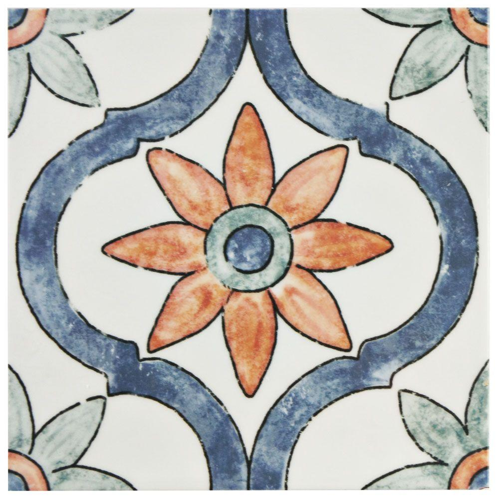 Merola Tile Bourges Arco 7-3/4 in. x 7-3/4 in. Ceramic Wall