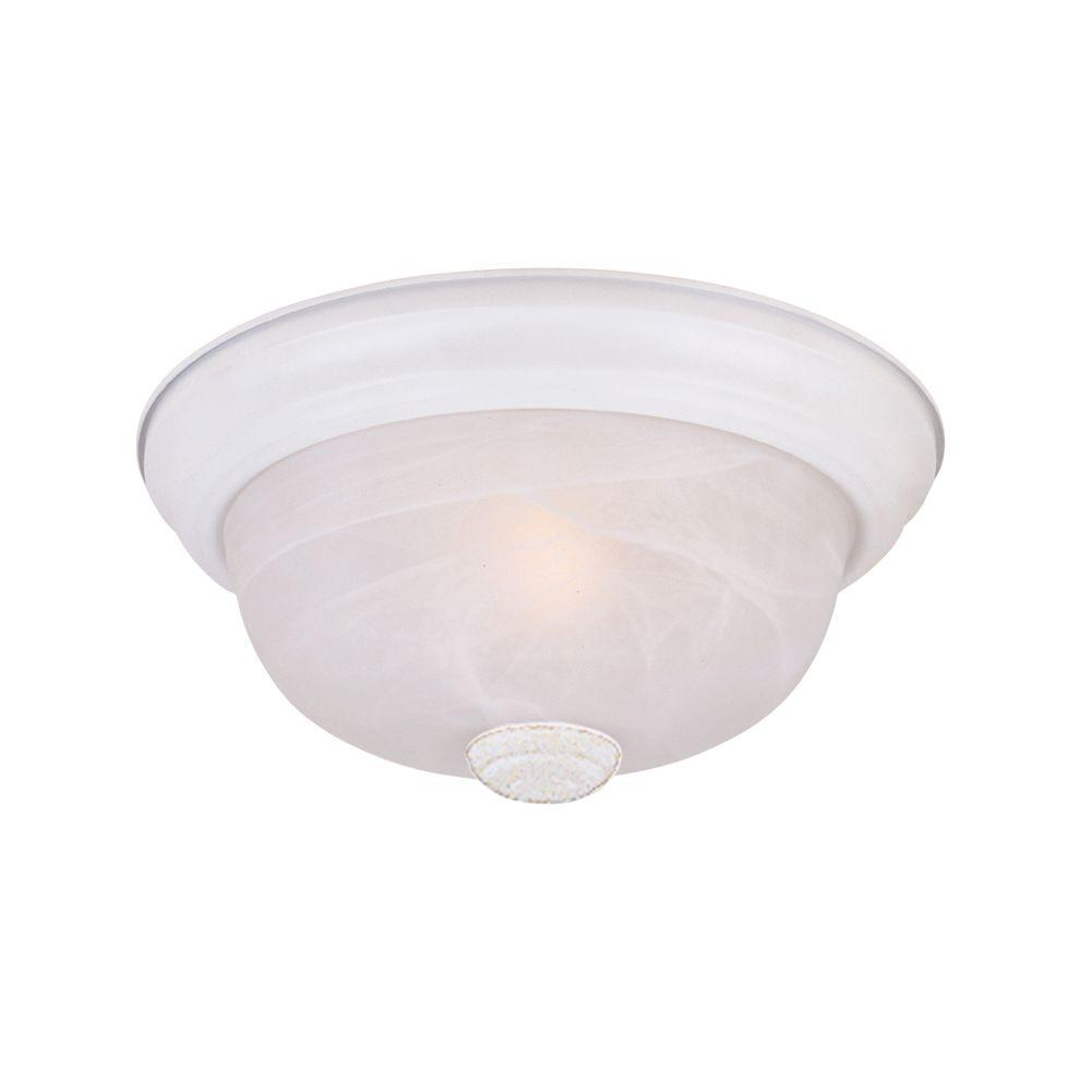 Reedley Collection 3-Light Solid White Ceiling Flushmount