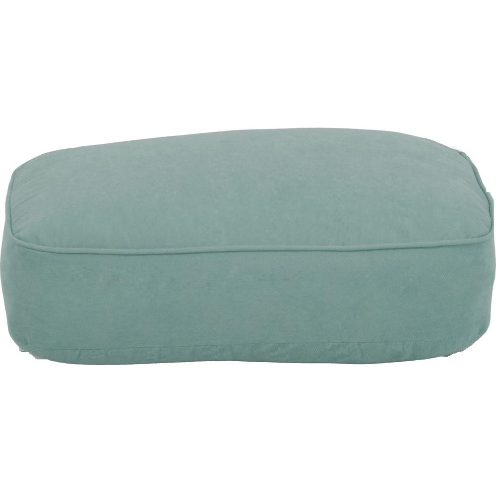 Martha Stewart Living Lily Bay-Lake Adela Surf Replacement Outdoor Ottoman