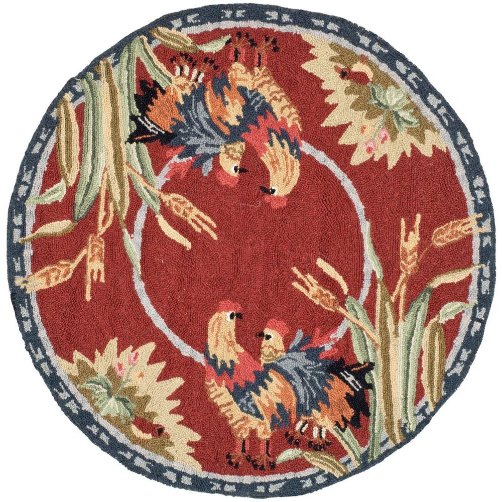Chelsea Burgundy 3 ft. Round Area Rug
