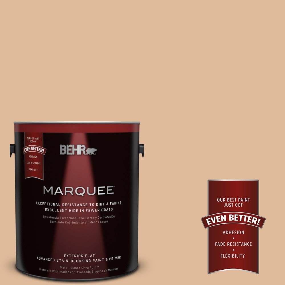 BEHR MARQUEE 1-gal. #270E-3 Only Natural Flat Exterior Paint