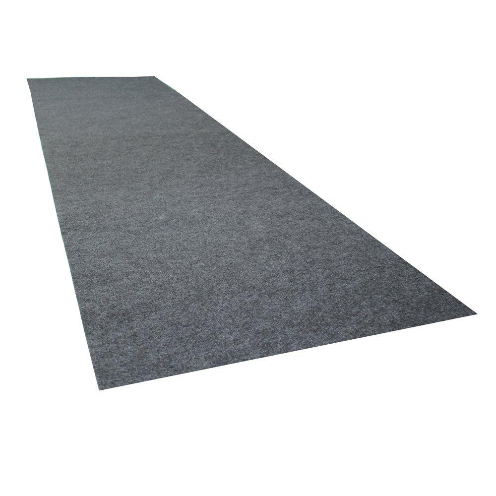 2 ft. 5 in. x 9 ft. Charcoal Grey Commercial Polyester