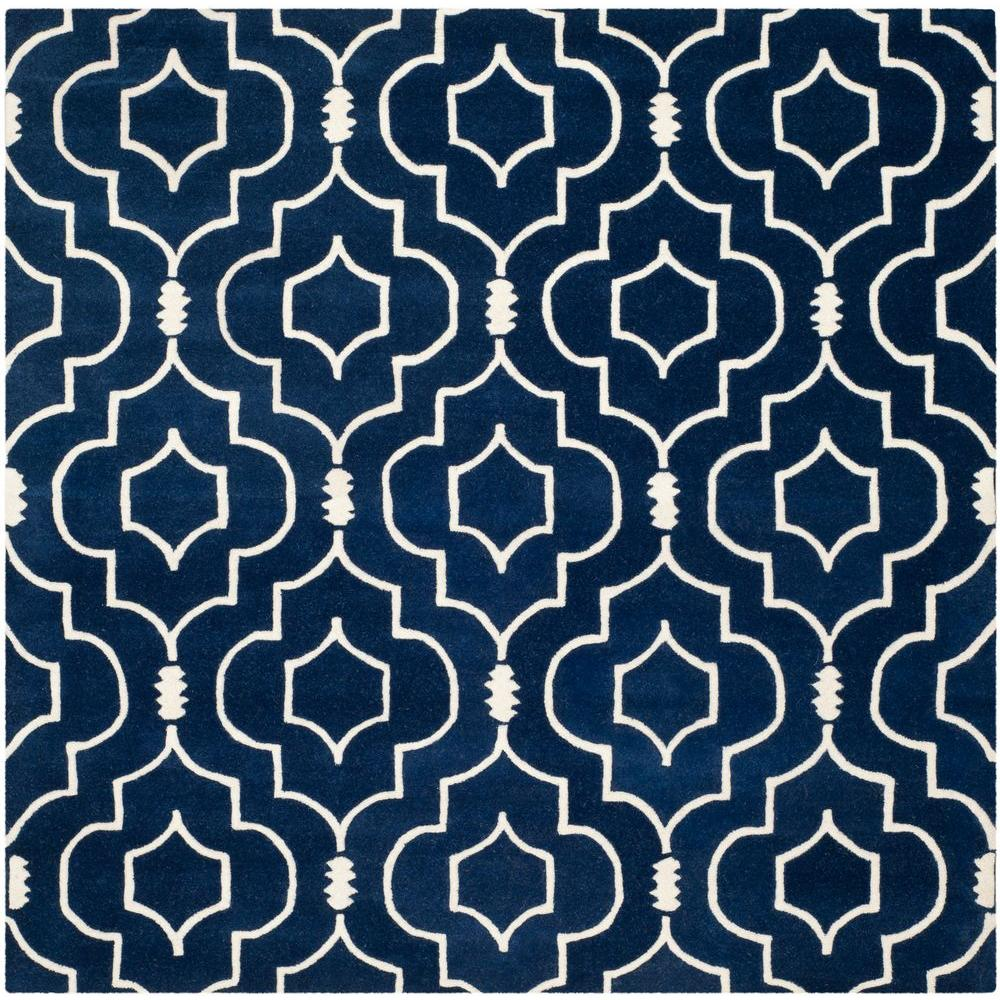 Safavieh Chatham Dark Blue/Ivory 7 ft. x 7 ft. Square Area
