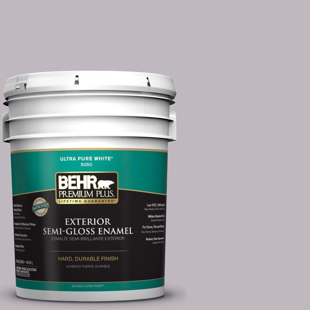 BEHR Premium Plus 5-gal. #N570-2 Standing Ovation Semi-Gloss Enamel Exterior Paint