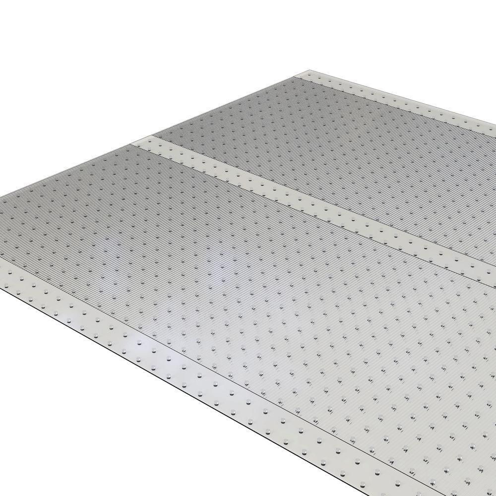 ES Robbins Clear 36 in. x 10 ft. Vinyl Ribbed Runner