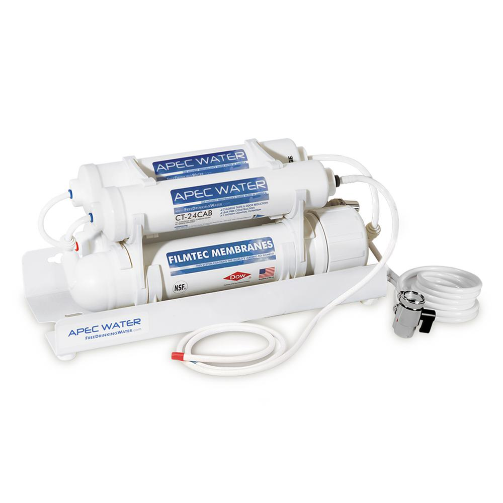Ultimate Counter Top Reverse Osmosis Water Filtration System 90 GPD 4-Stage
