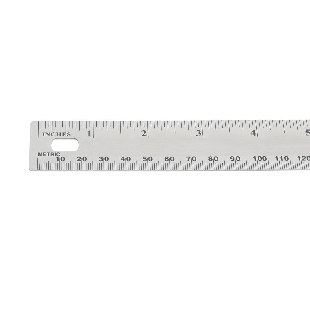 18-inch ruler featuring a hole on the end for easy hanging