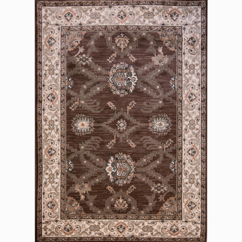 Home Dynamix HD Sapphire Brown 1 ft. 10 in. x 2 ft. 11 in. Indoor Area Rug