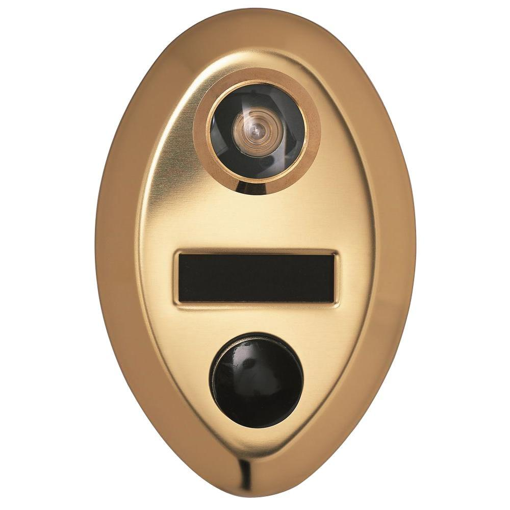 Auth-Chimes 145-Degree Anodized Gold Door Viewer with Mechanical Chime