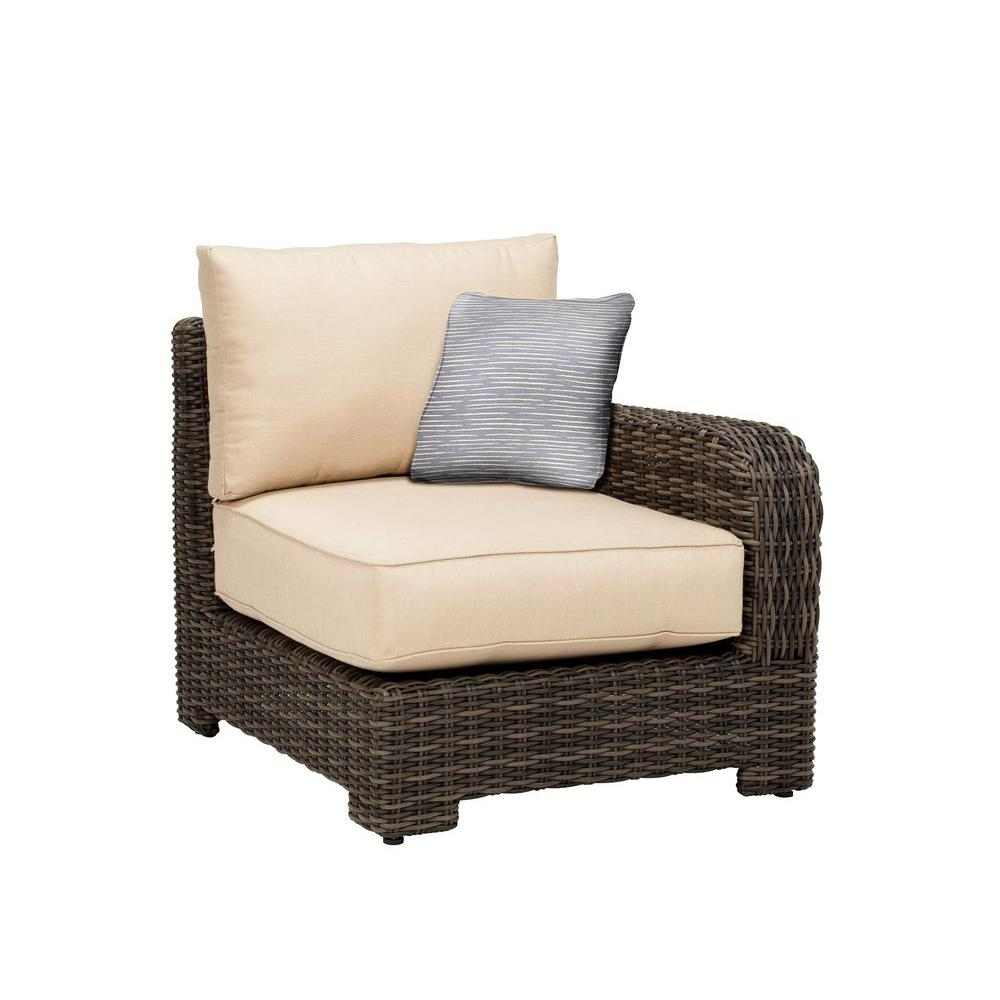 Northshore Right Arm Patio Sectional Chair with Harvest Cushion and Congo