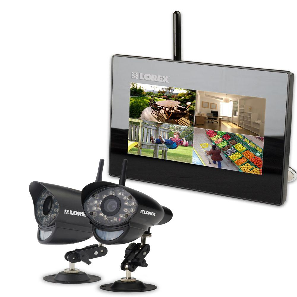 Lorex 4 CH 2GB SD Card Wireless Surveillance System with (2) 420 TVL Cameras with 7 in. Monitor and Remote-DISCONTINUED