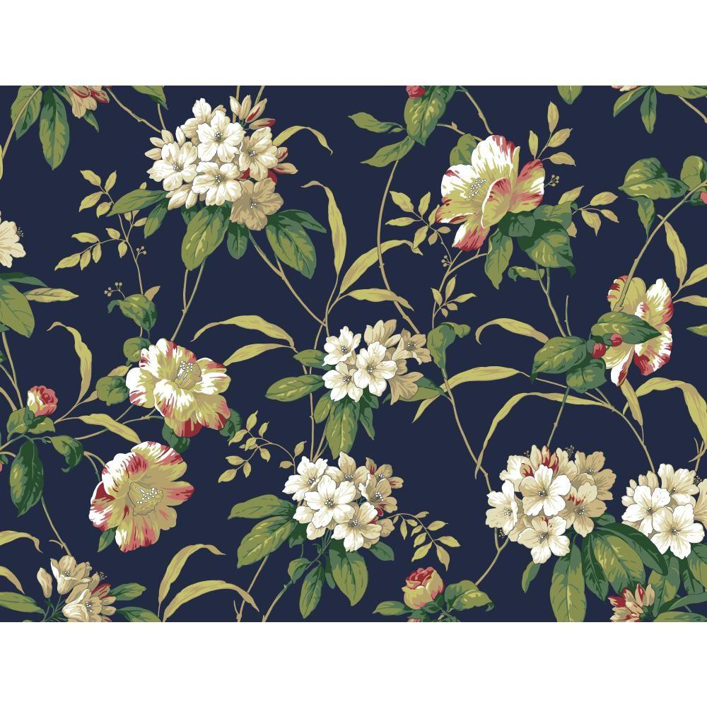York Wallcoverings 60.75 sq. ft. Casabella II Rhododendron Floral