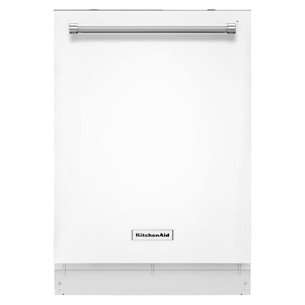 KitchenAid Top Control Dishwasher In White With Stainless