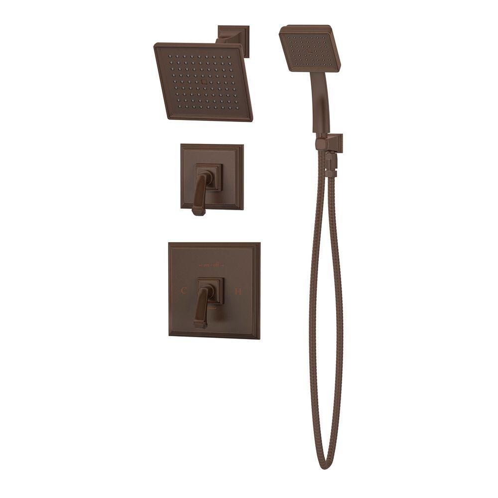 Symmons Oxford 1-Spray Hand Shower and Shower Head Combo Kit in Oil Rubbed Bronze