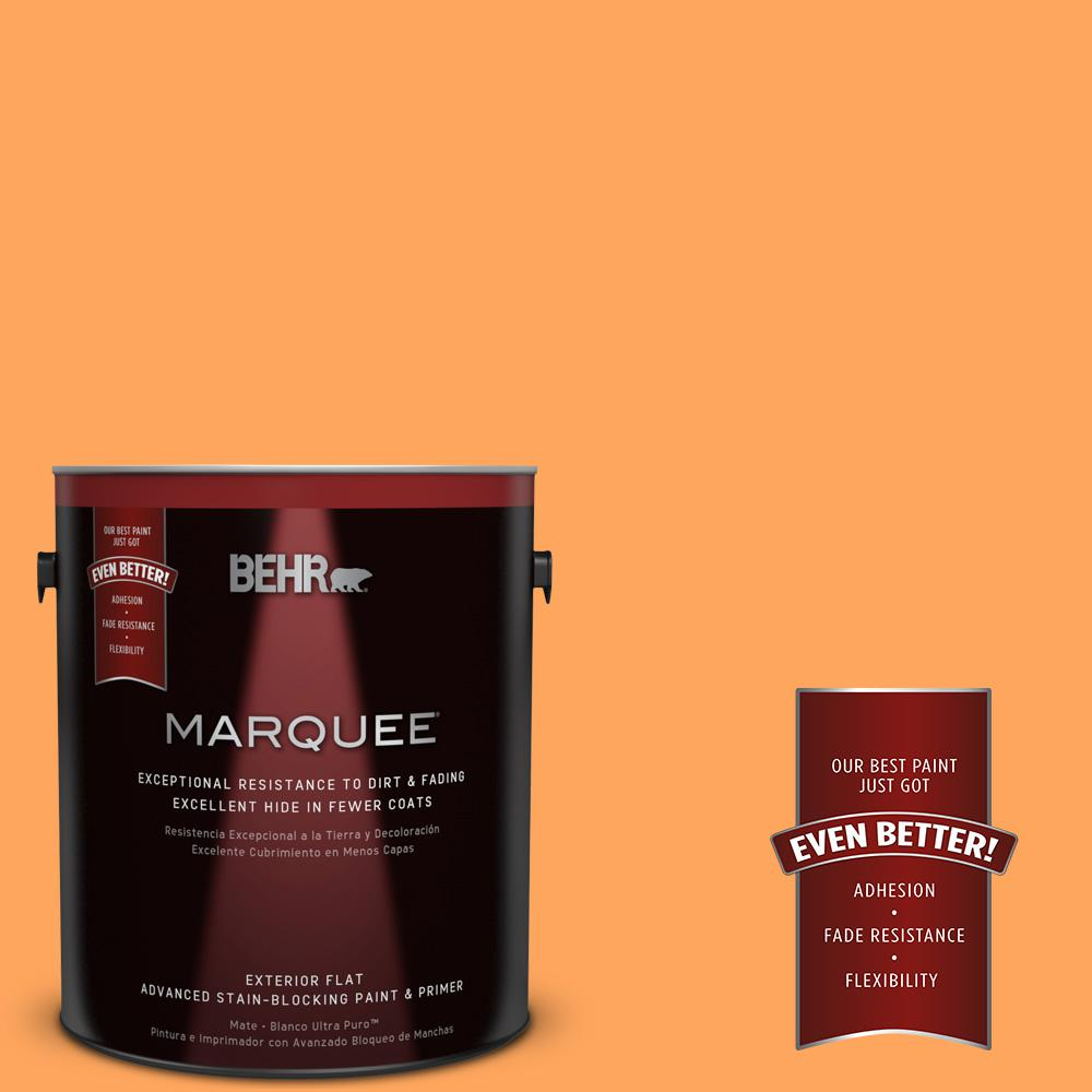 BEHR MARQUEE 1-gal. #270B-5 Melon Flat Exterior Paint-445301 - The Home