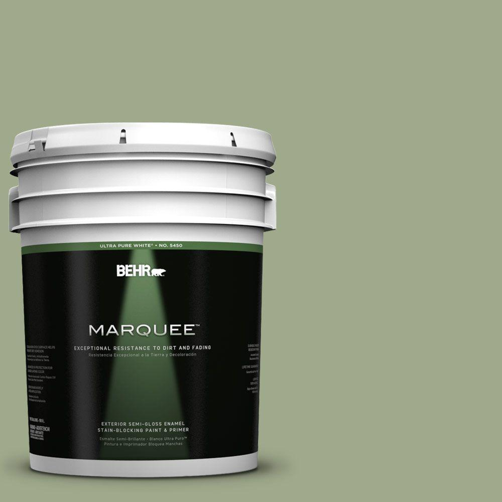 5-gal. #PMD-36 Mountain Sage Semi-Gloss Enamel Exterior Paint
