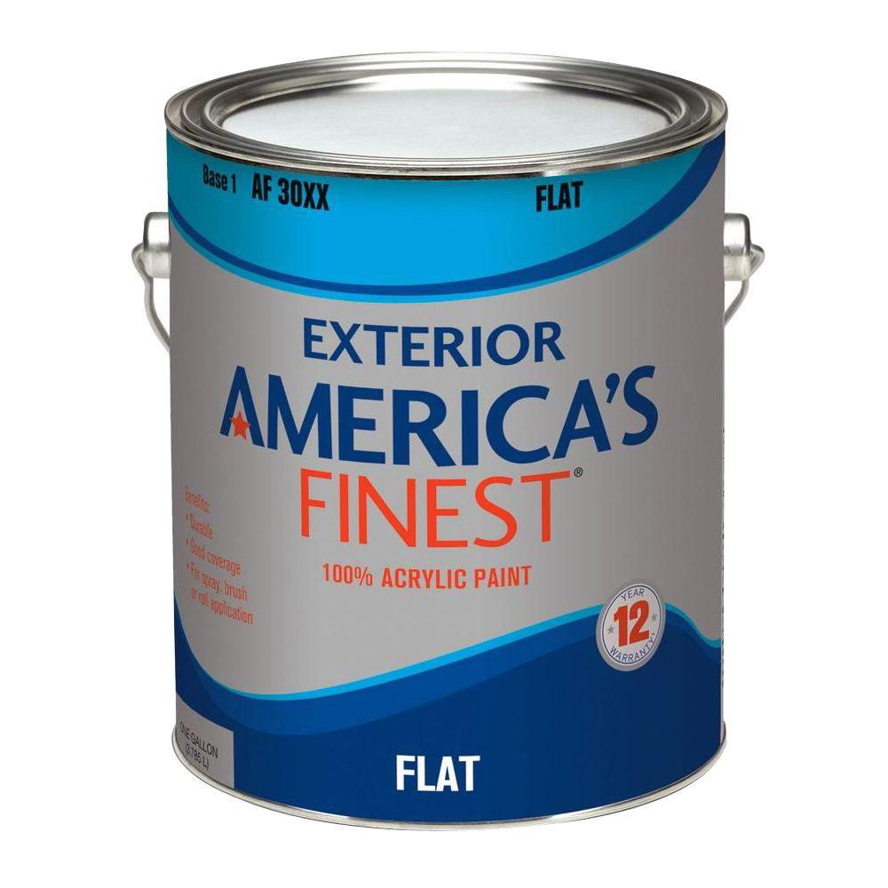 1-gal. Flat Latex Accent Colors Exterior Paint