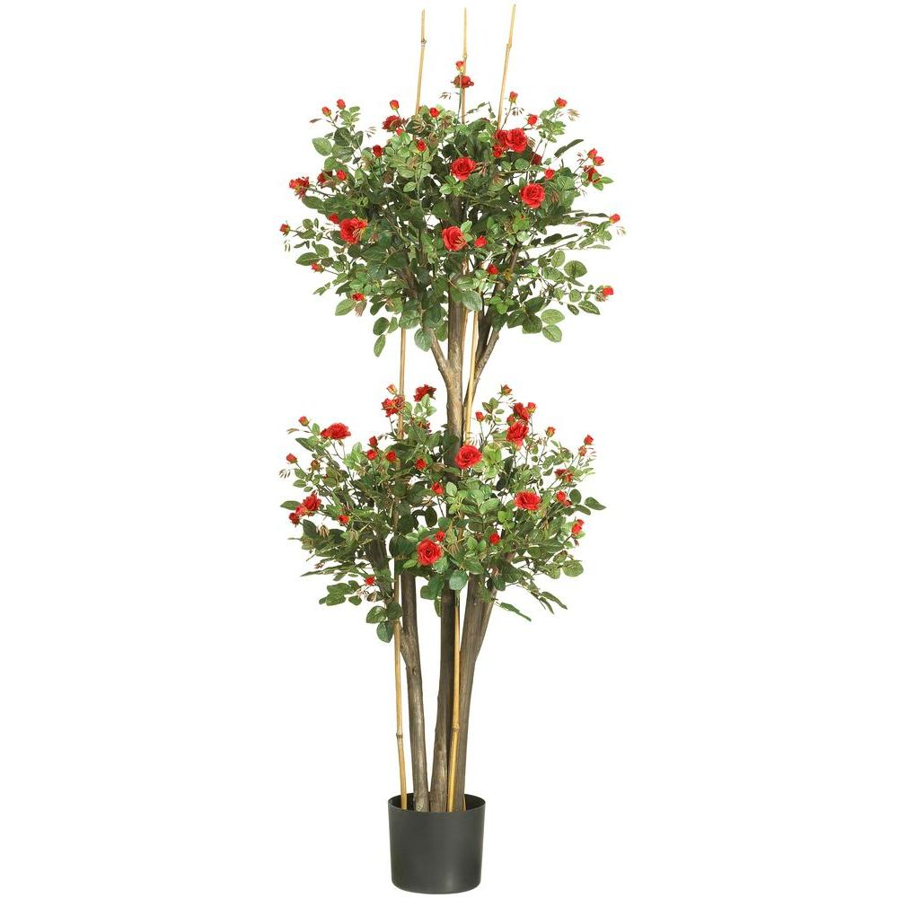 Nearly Natural 5 ft. Mini Rose Silk Tree-5238 - The Home