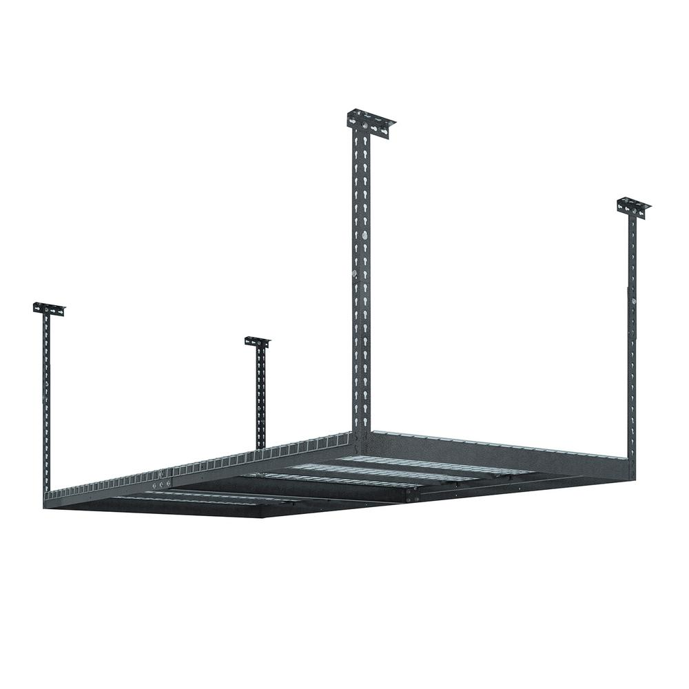 NewAge Products Performance 96 In L X 48 W 42 H Adjustable VersaRac Ceiling Storage Rack Gray 40151