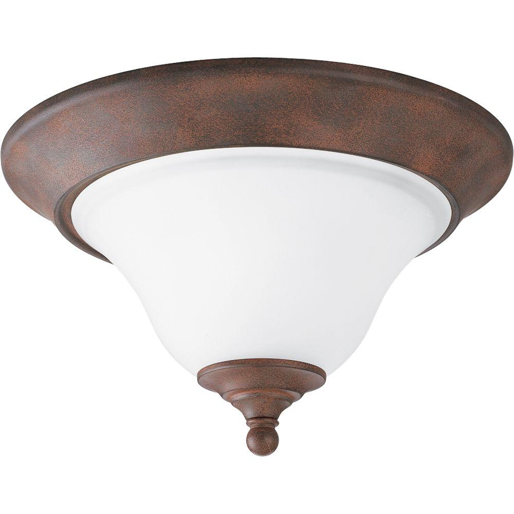 Trinity Collection Cobblestone 1-light Flushmount-DISCONTINUED