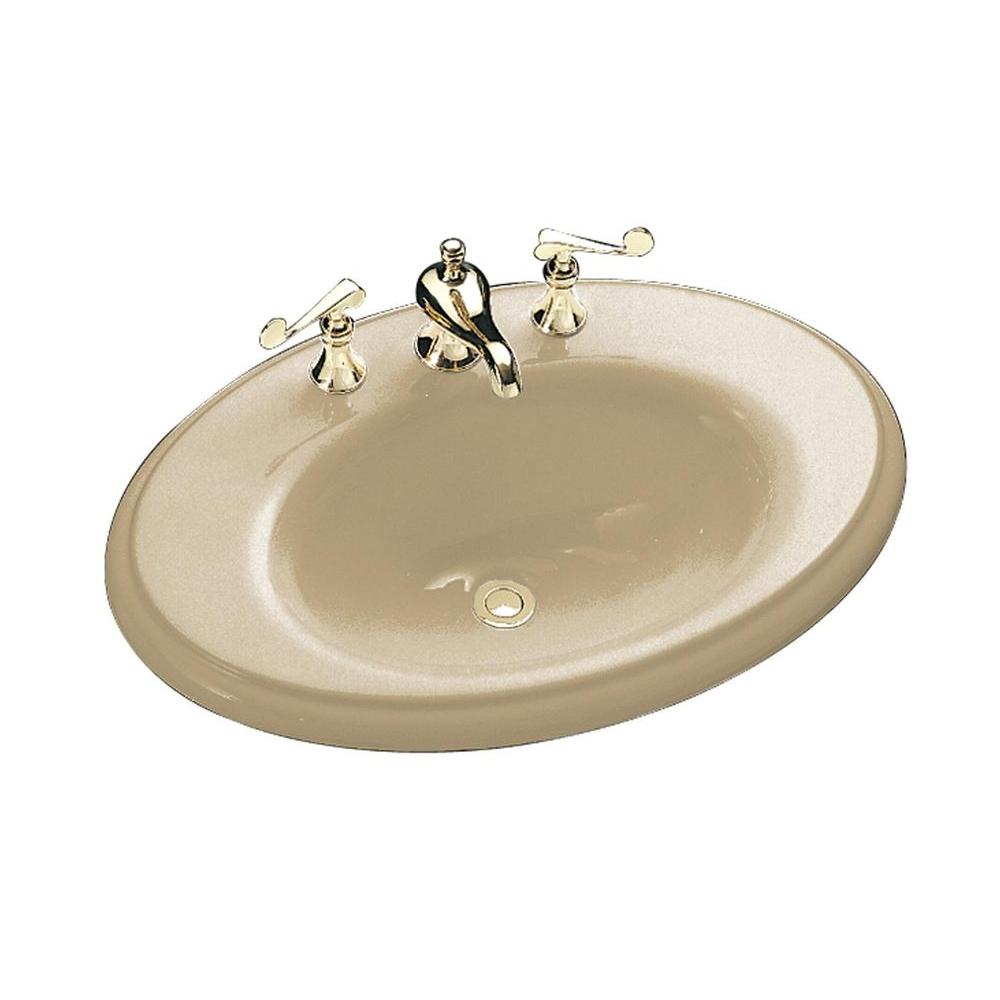 KOHLER Revival Drop-In Cast Iron Bathroom Sink in Mexican Sand