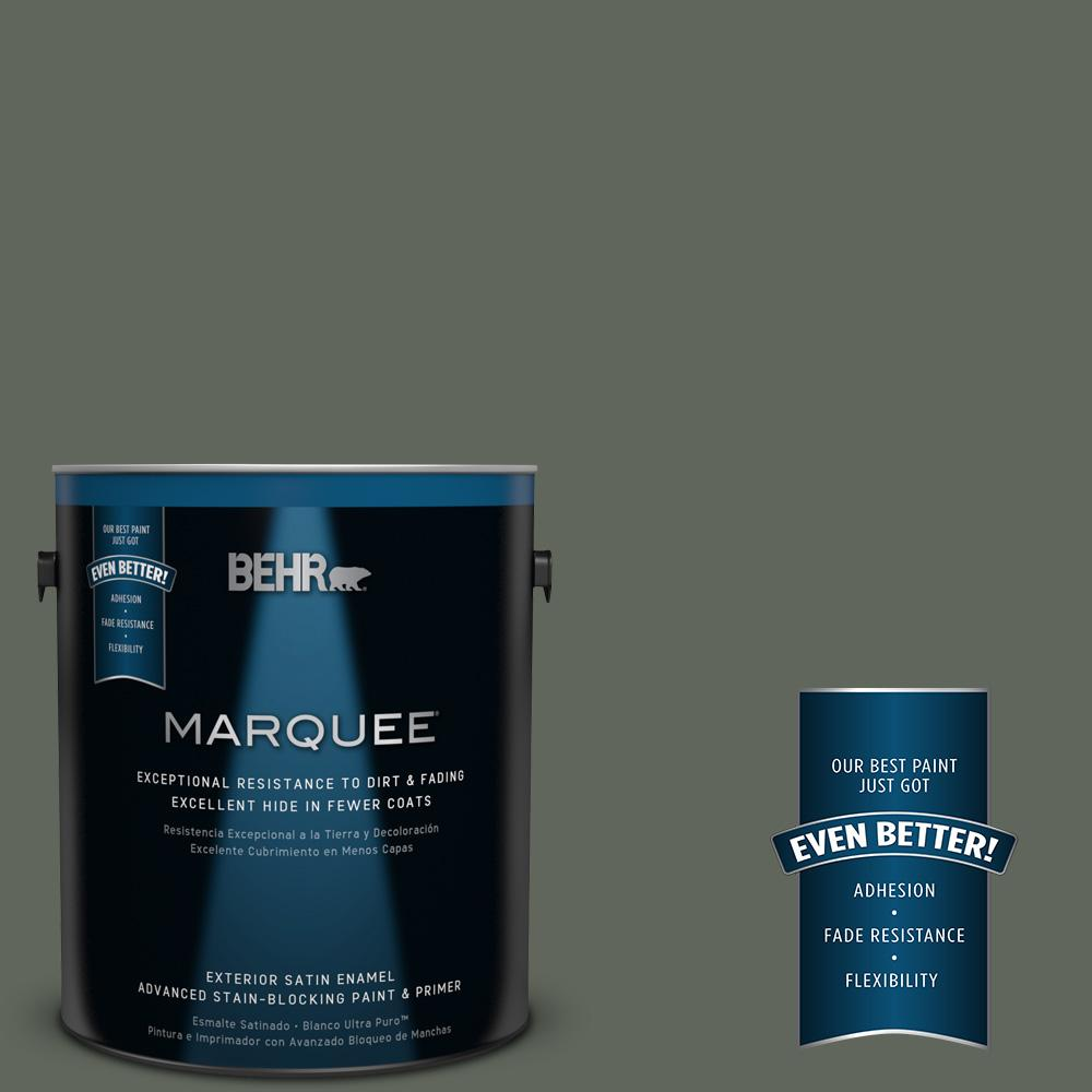 BEHR MARQUEE 1-gal. #710F-6 Painted Turtle Satin Enamel Exterior Paint-945301 -