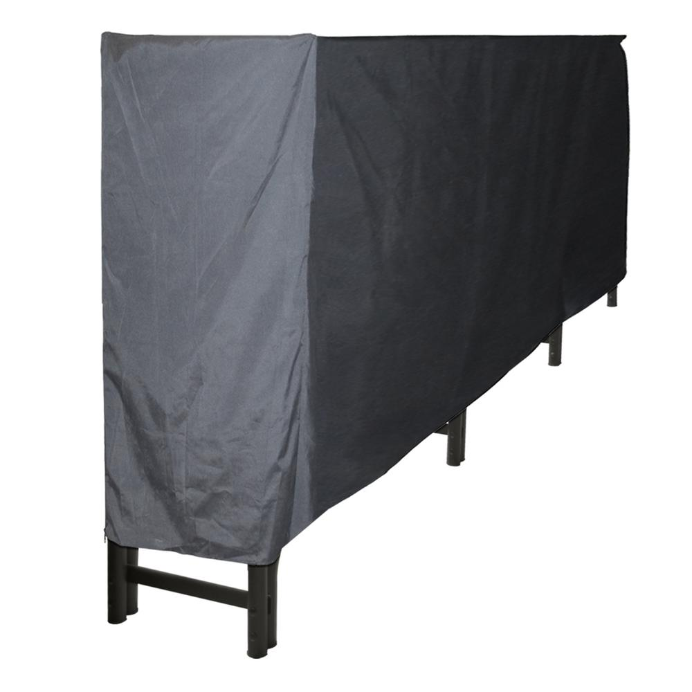 Pleasant Hearth 12 ft. Polyester Full-Length Firewood Rack Cover