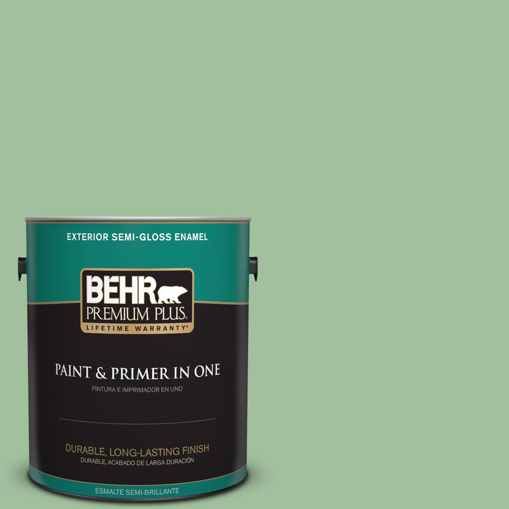 1-gal. #BIC-25 Spring Sprig Semi-Gloss Enamel Exterior Paint