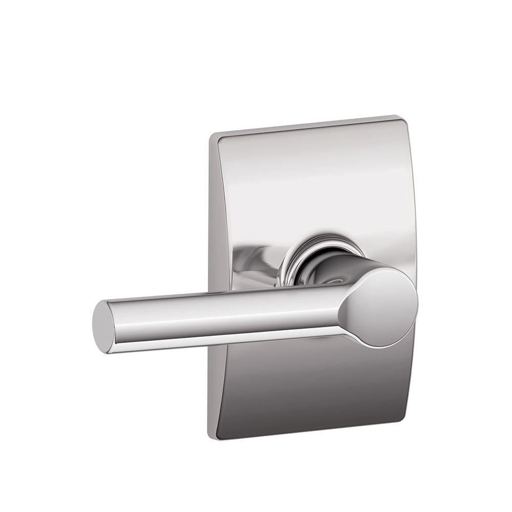 Schlage Century Bright Chrome Broadway Hall and Closet Passage Lever