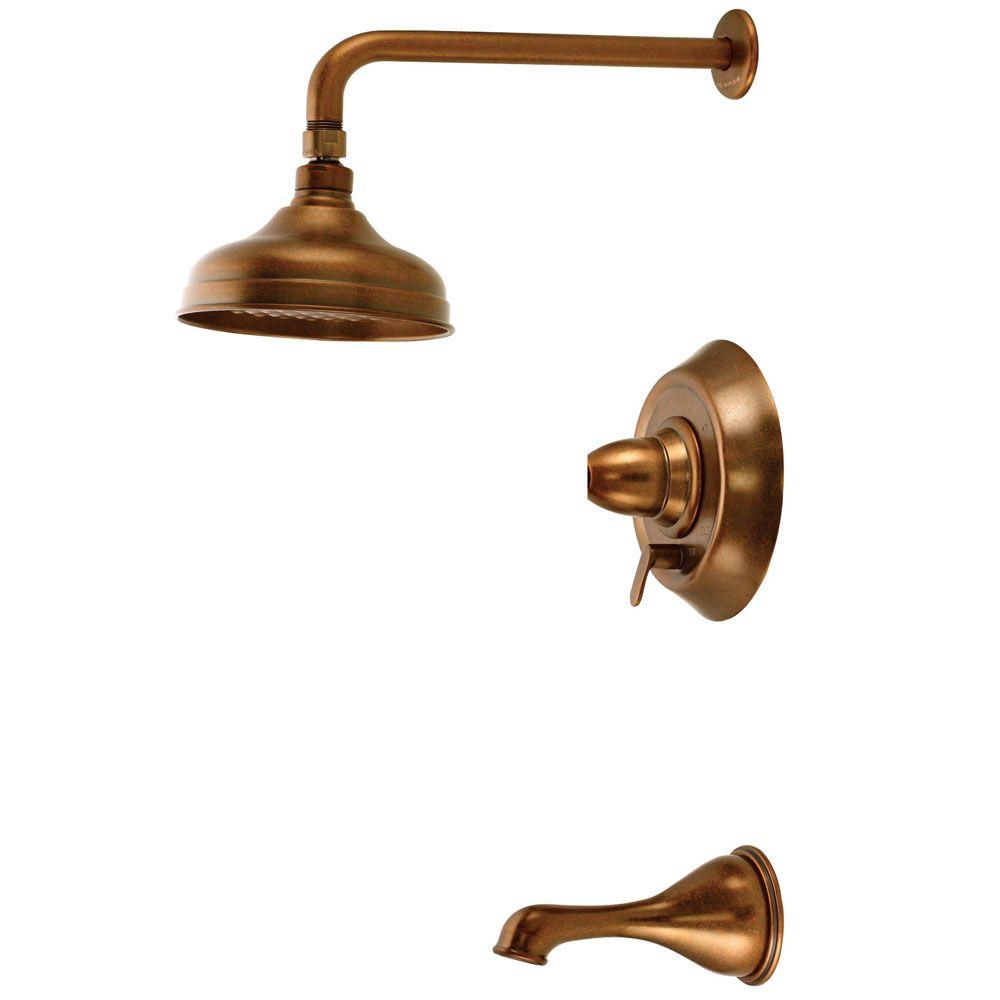 Belle Foret Pressure Balance Tub and Shower Faucet Less Handles in Oil Rubbed Bronze-DISCONTINUED