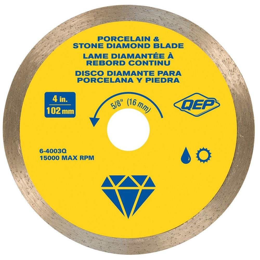 QEP 4 in. Premium Diamond Blade for Wet or Dry Cutting Porcelain and Ceramic Tile